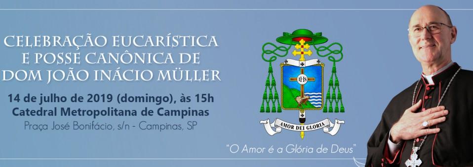 Venha participar, acolher e rezar com D. João Inácio nosso novo Arcebispo Metropolitano.